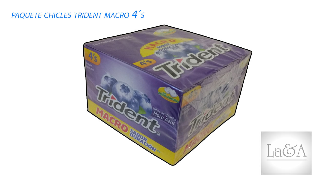 Chicles Trident 4´s