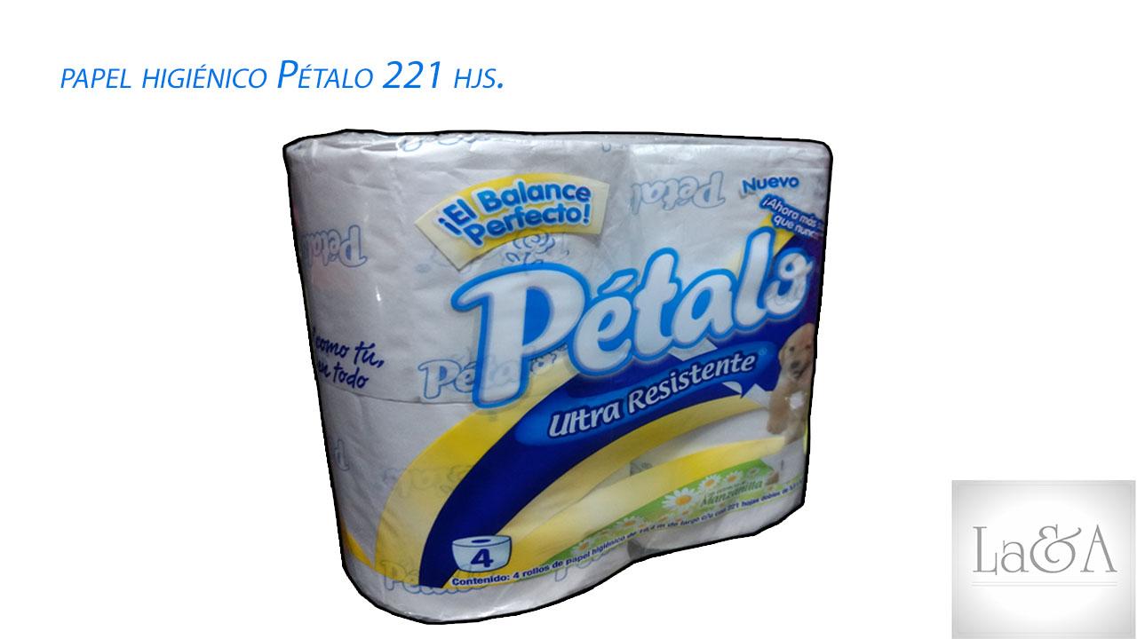 Papel Higiénico Pétalo 221hjs.