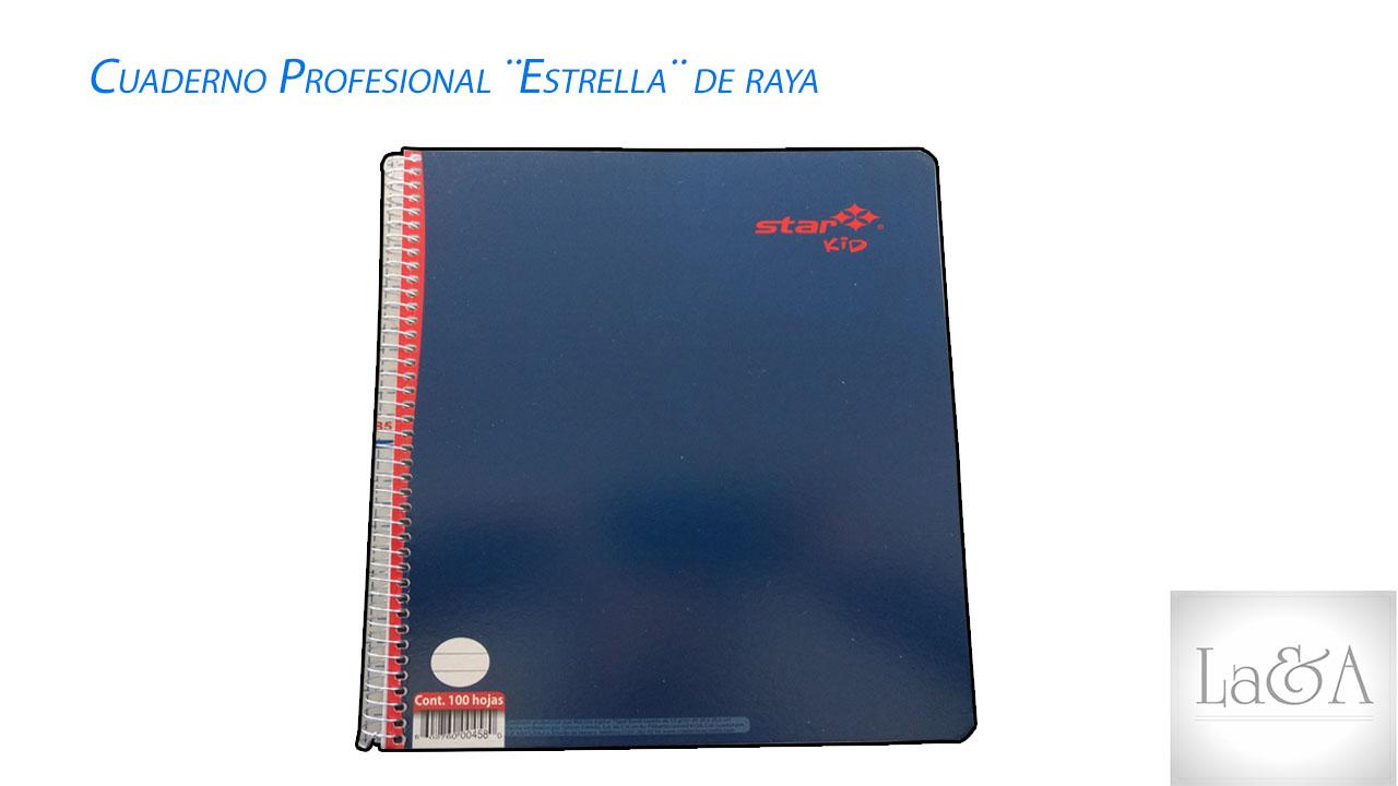 Cuaderno Profesional Estrella Raya