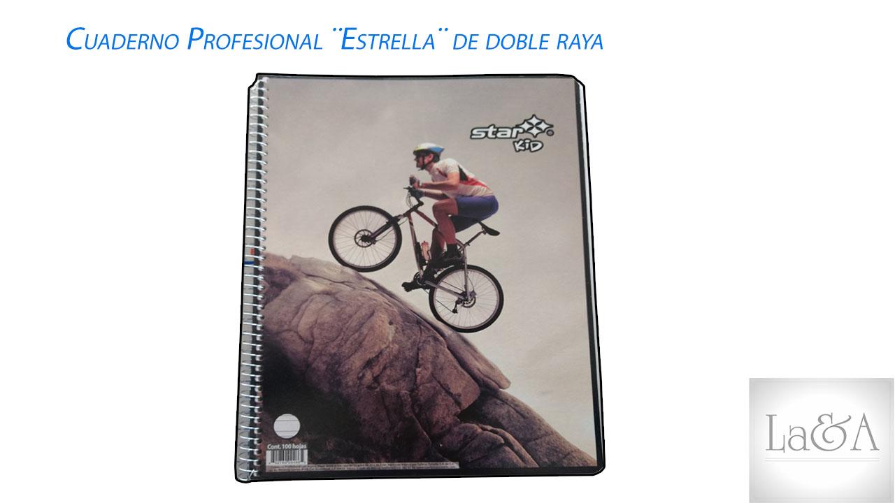Cuaderno Profesional Estrella Doble Raya