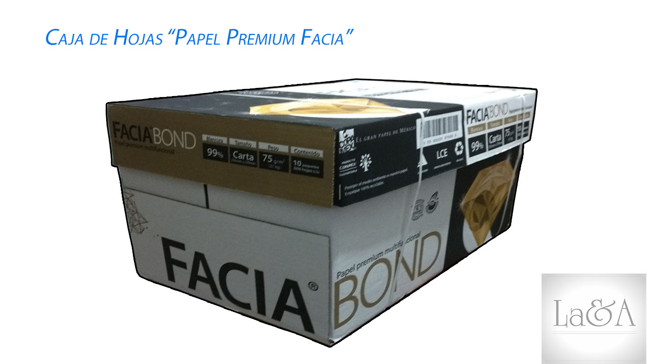Caja de Hojas Facia Bond T/carta