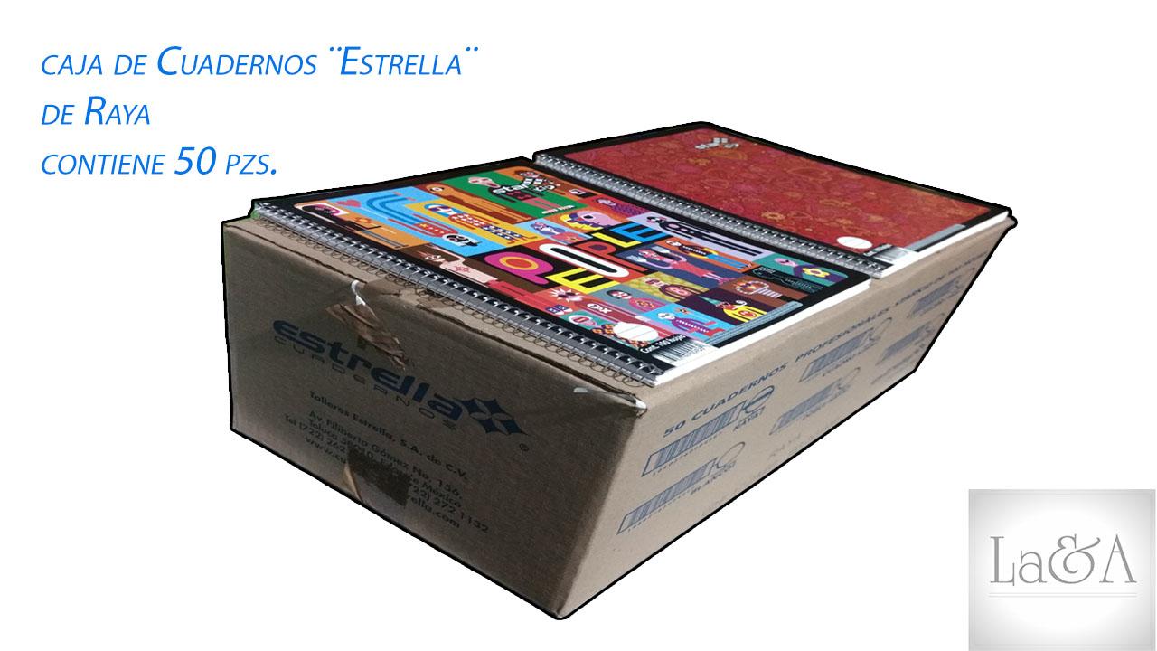 Caja Cuadernos Raya  ¨Estrella¨
