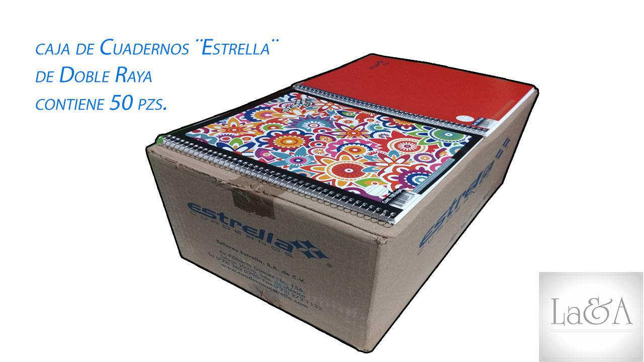 Caja Cuadernos Doble Raya ¨Estrella¨
