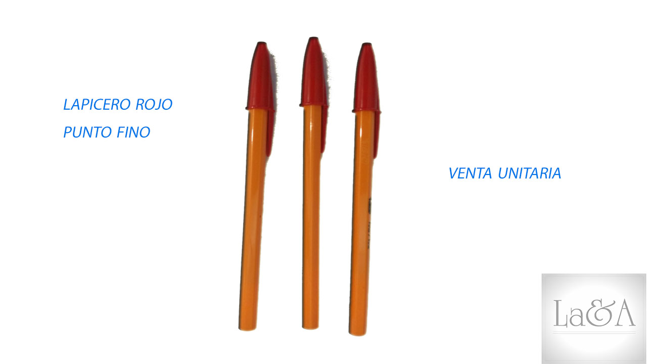 Lapicero Rojo P. Fino