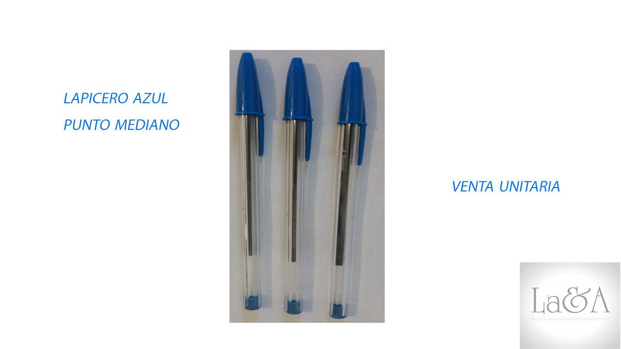Lapicero Azul P. Mediano
