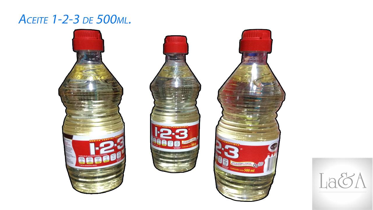 Aceite 1-2-3 500ml.