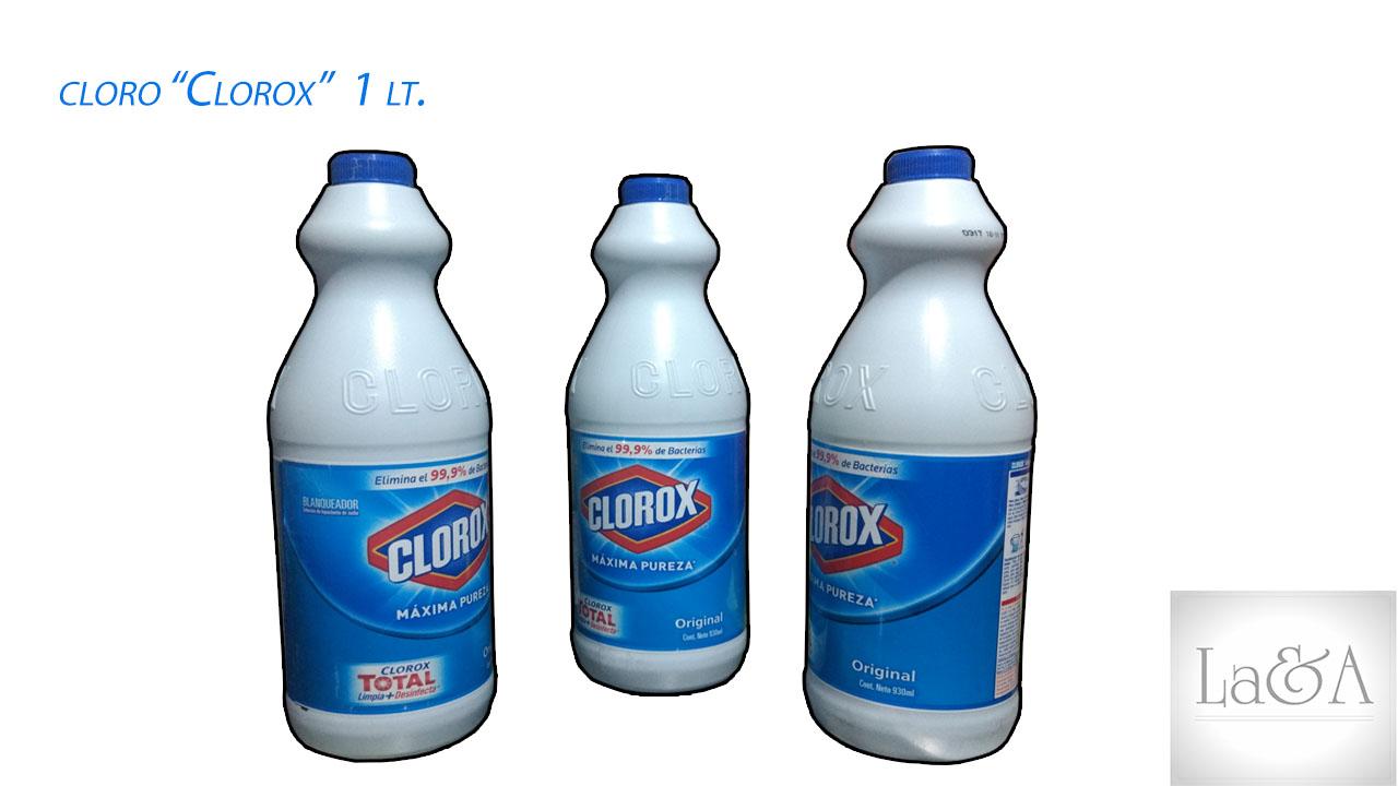 Cloro ¨Clorox¨ 1lt.