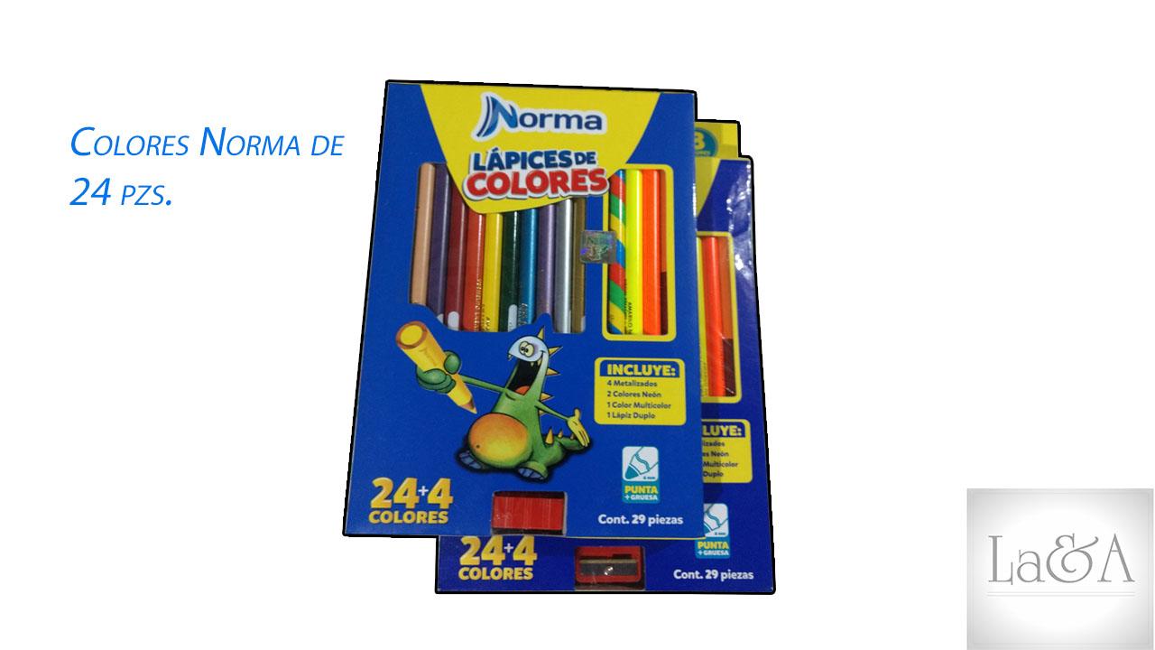 Colores Norma 24 pzs.