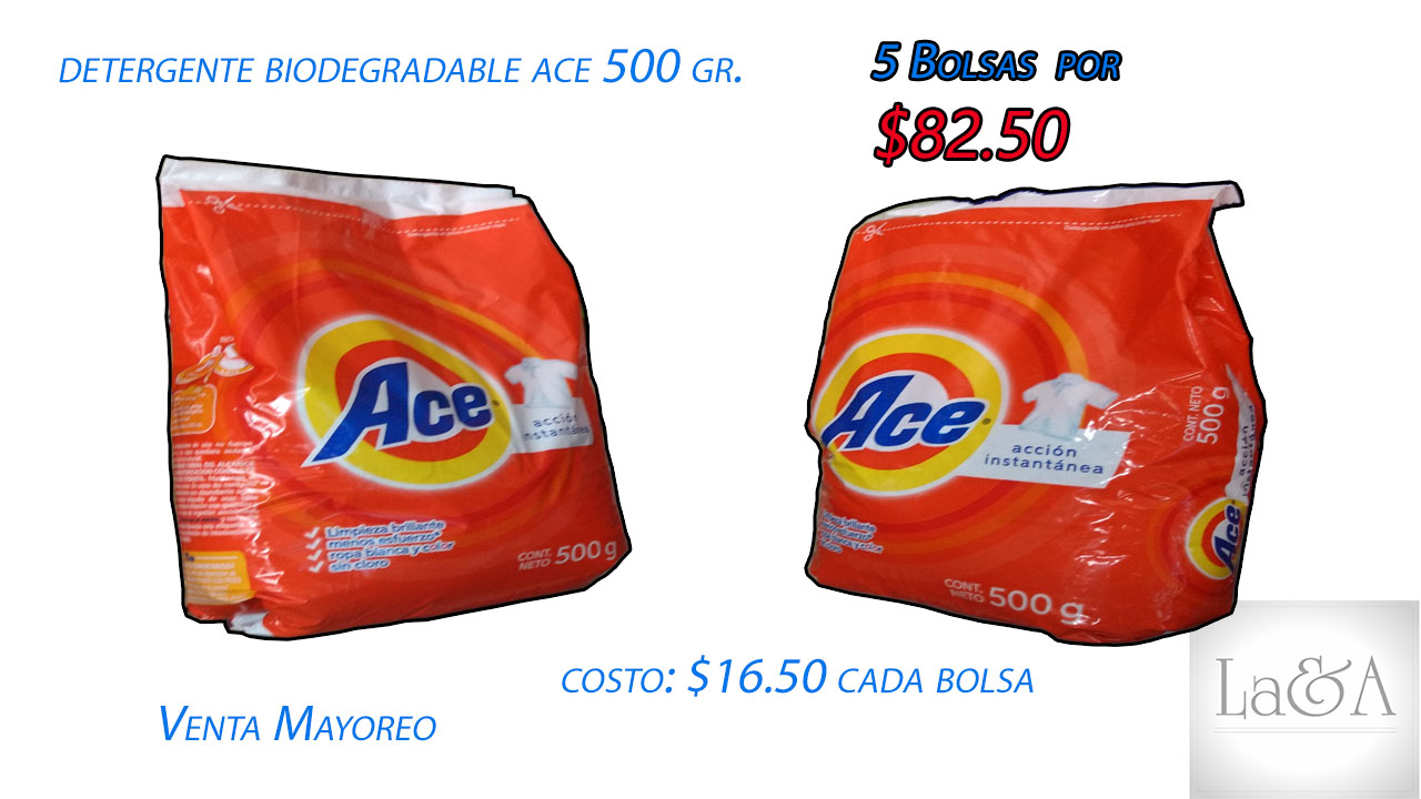 Detergente Biodegradable Ace 500 gr