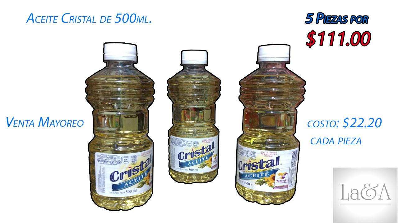 Aceite Cristal 500 ml.