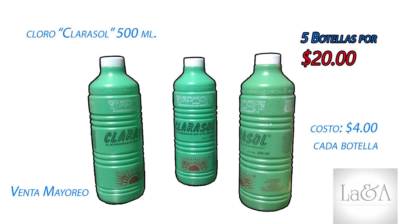Cloro Clarasol 500 ml.