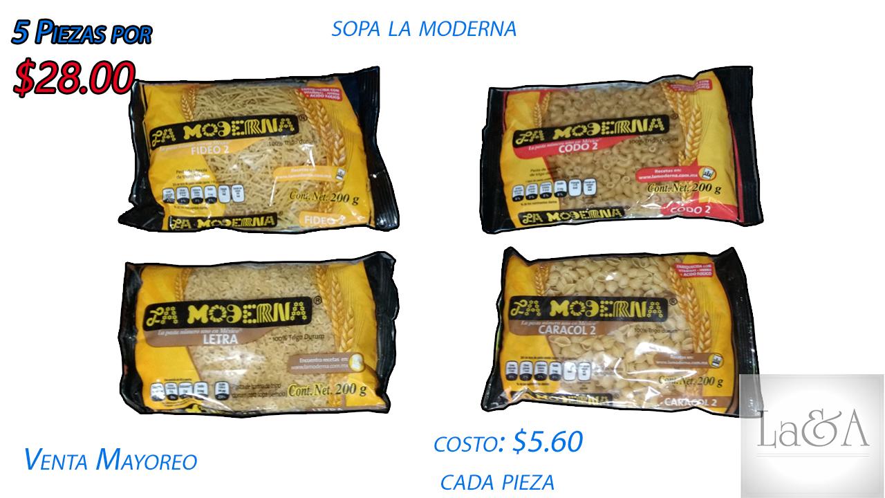 Sopa La Moderna