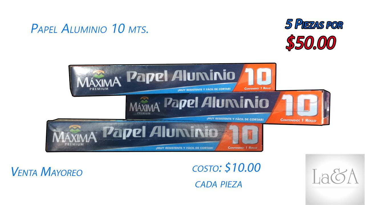 Papel Aluminio 10 mts.