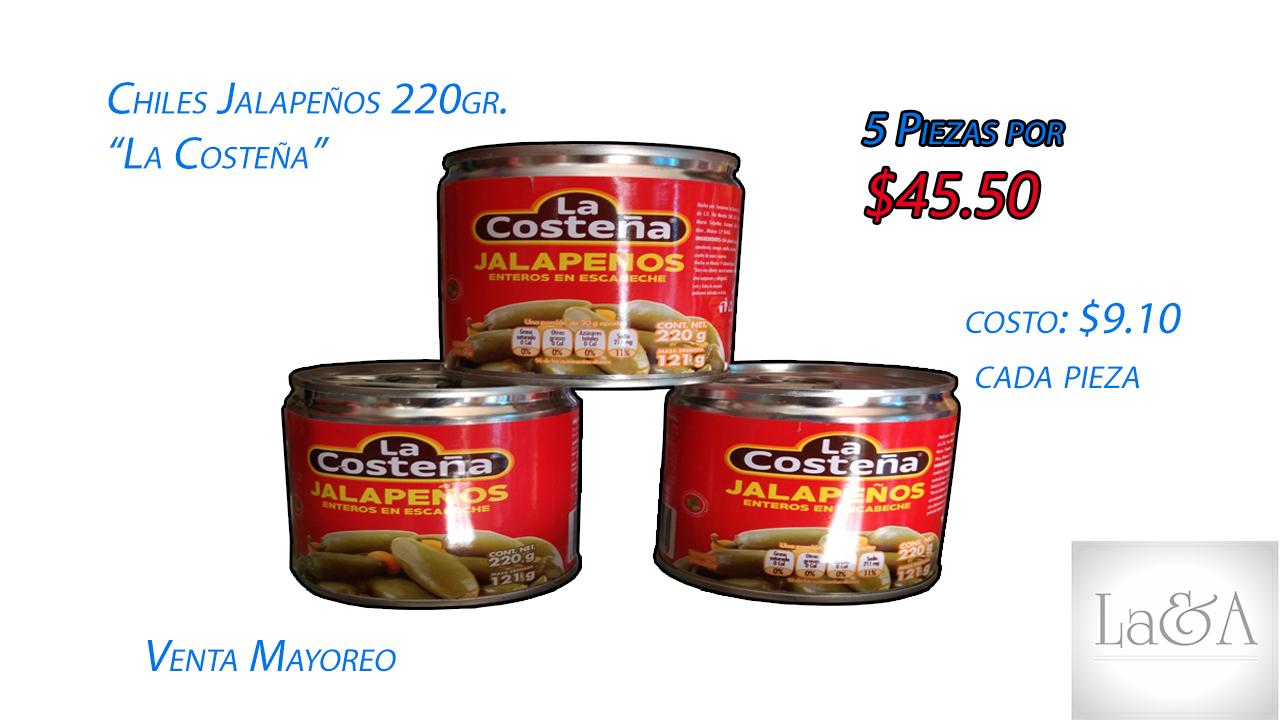 Chiles Jalapeños 220gr.