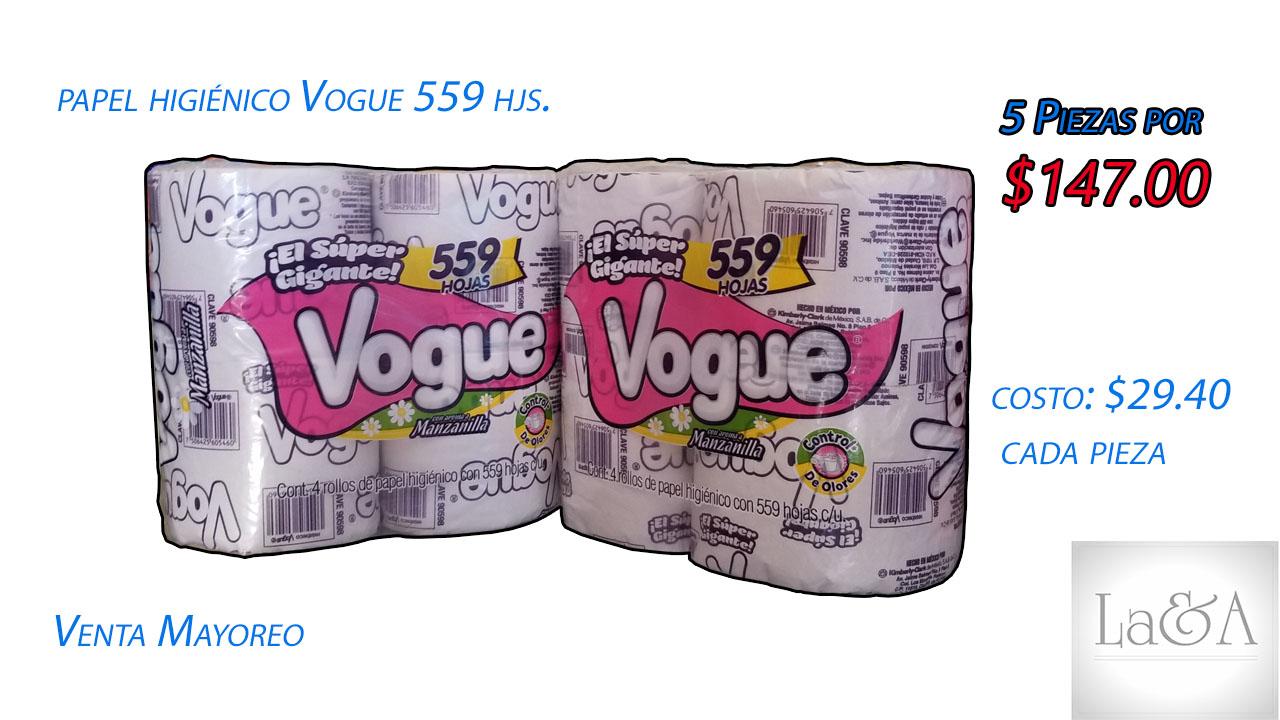 Papel Higiénico Vogue 600hjs.
