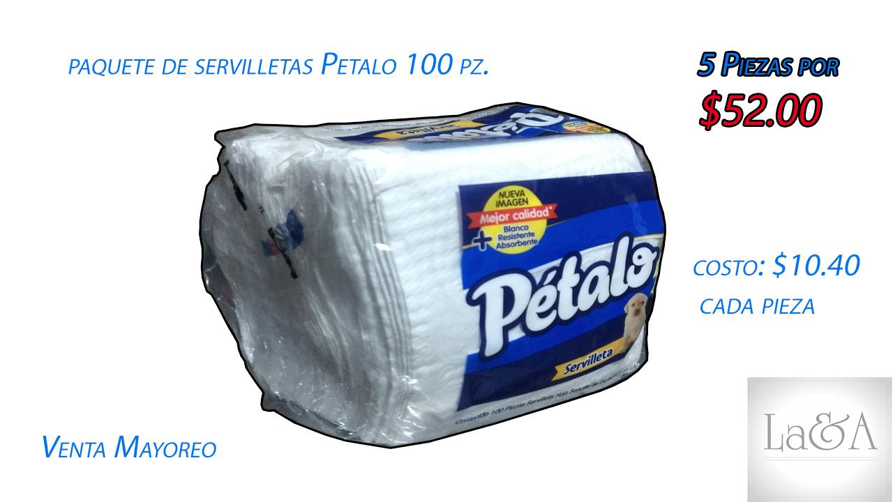 Servilletas Pétalo 100 pzs.