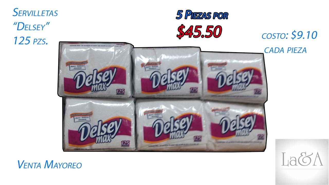 """Servilletas """"Delsey"""" 125 pzs."""