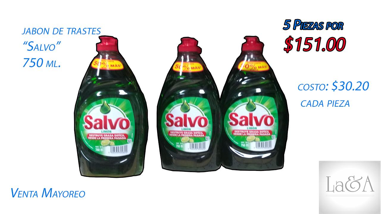 """Jabón de trastes """"Salvo-2 750 ml."""