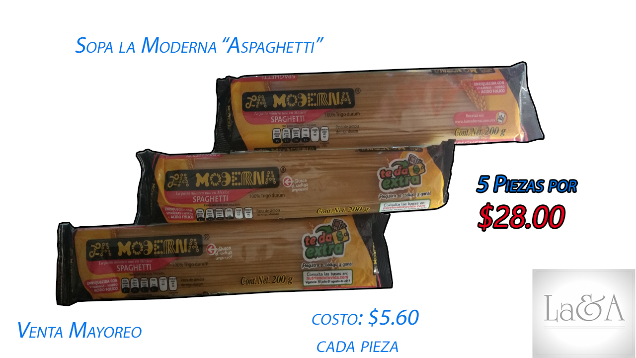 """Sopa La Moderna """"Spaguetti"""""""