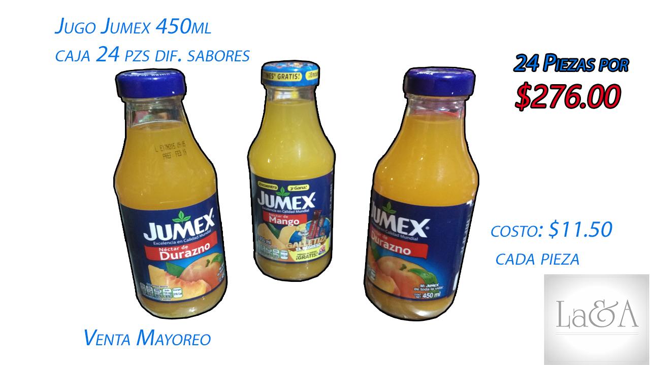 Jugo Jumex Caja 24 pzs.