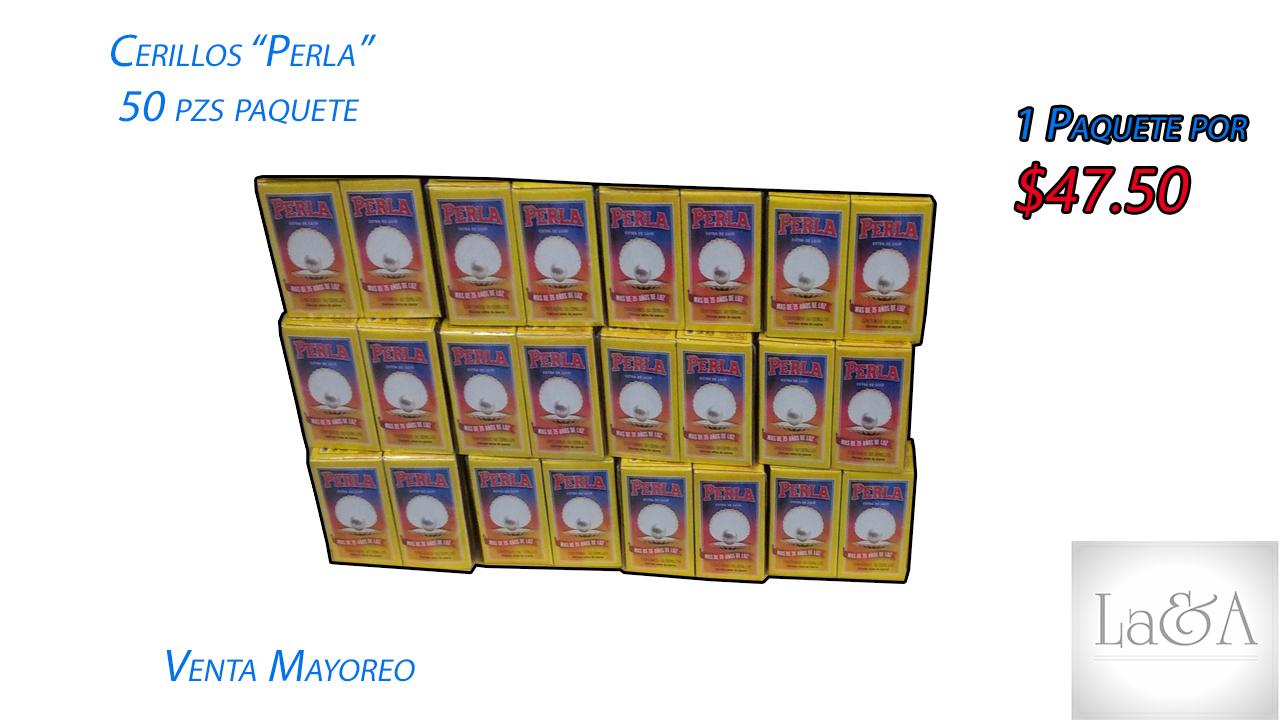 """Cerillos """"La Perla"""" 50 pzs."""