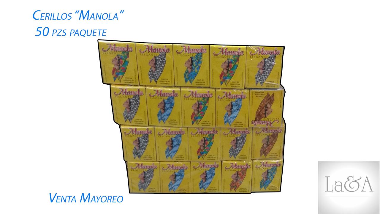 "Cerillos ""Manola"" 50 pzs."