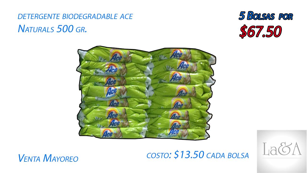 """Detergente Ace """"Naturals"""" 500 gr."""