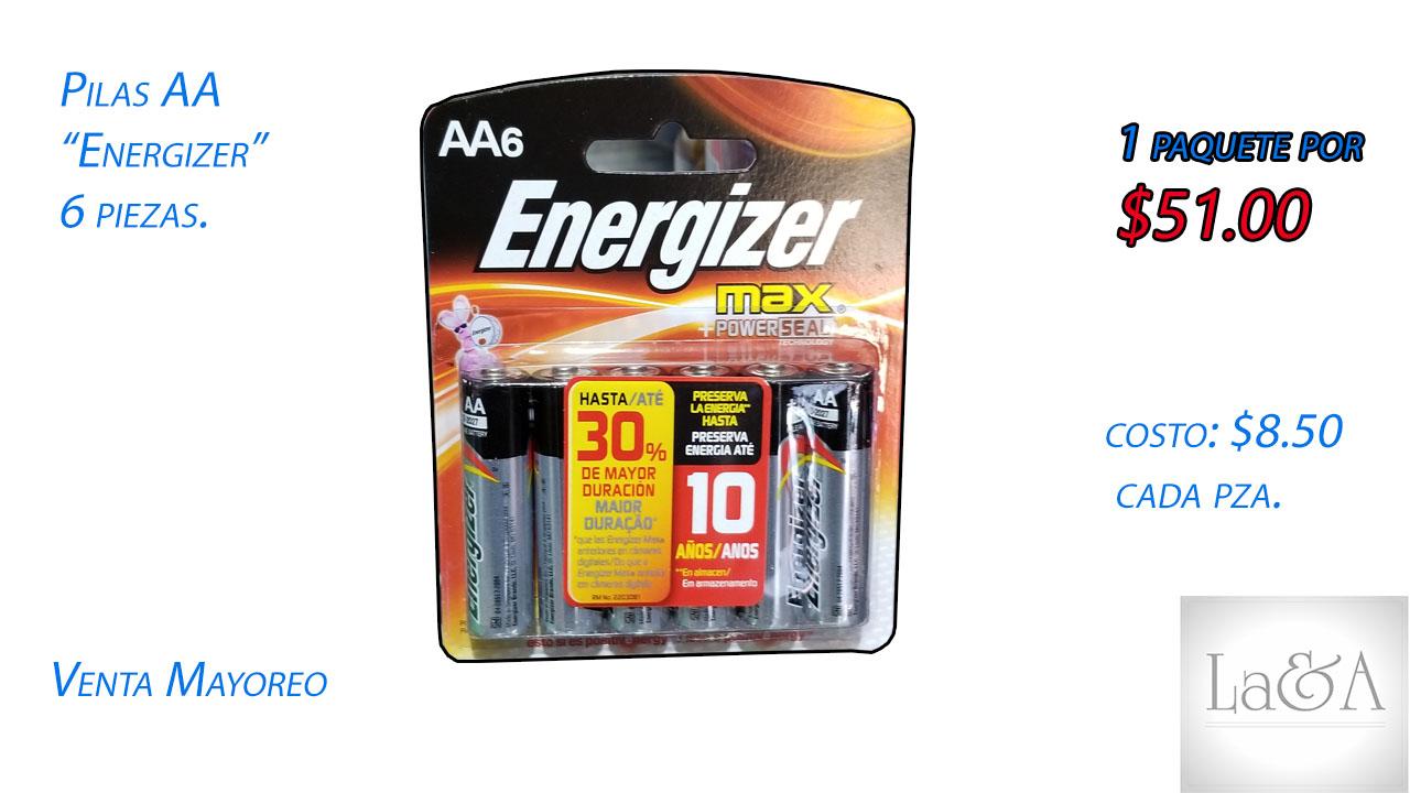 """Pilas AA """"Energizer"""" 6 pzs."""