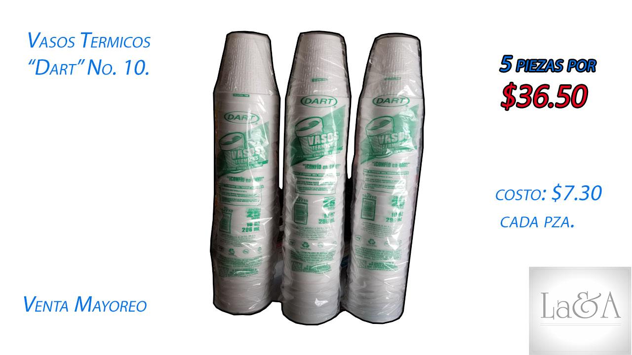 """Vasos Térmicos """"Dart"""" No. 10"""