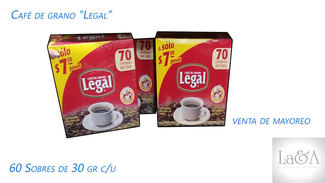 Cafe Legal sobres.