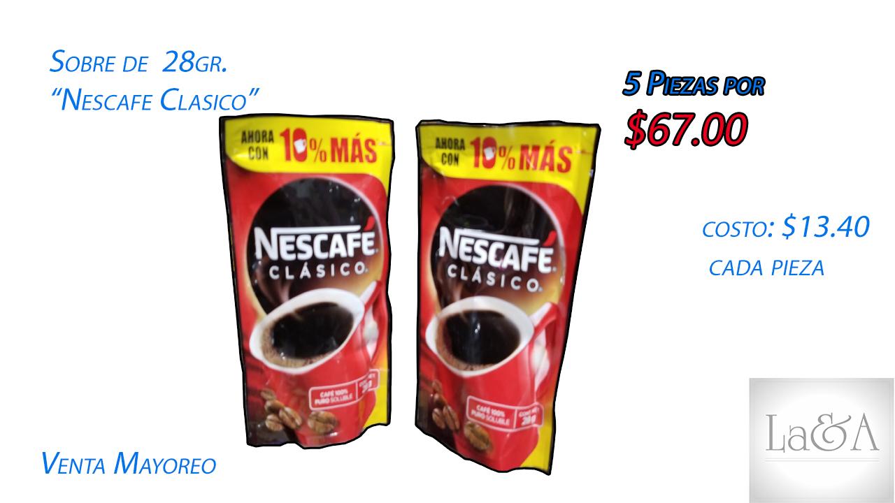 Sobre de Nescafe Clásico de 28 gr.