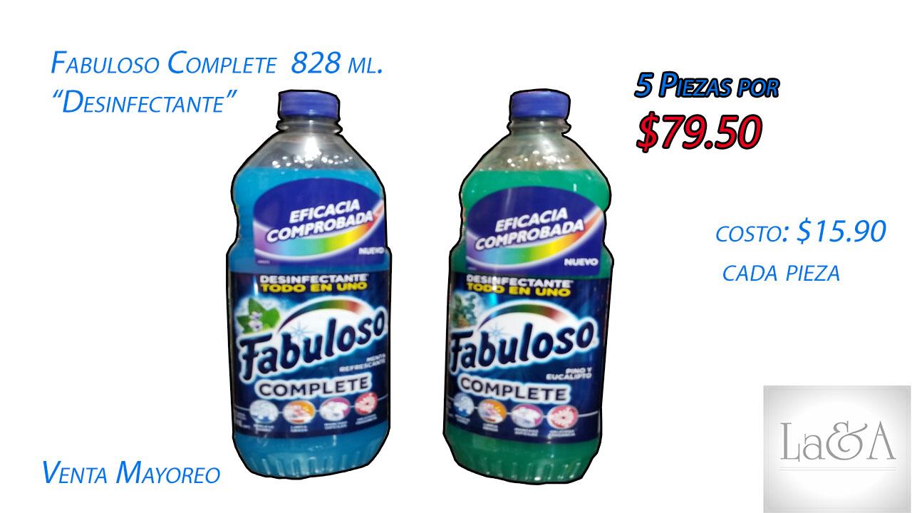 Fabuloso Complete 828 ml.