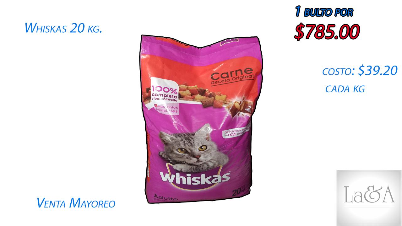 """""""Whiskas"""" Bulto de 20 kg."""