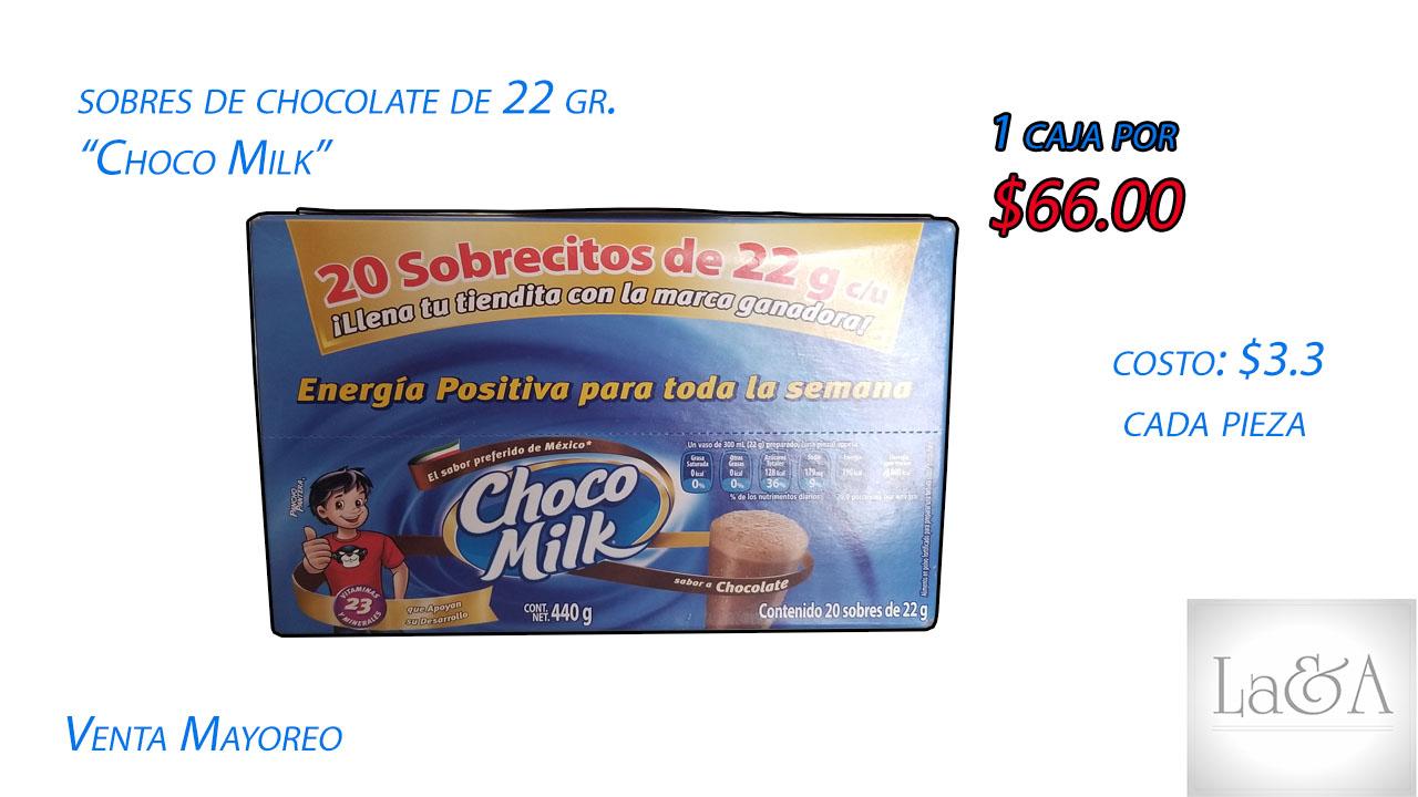 "Sobres ""Chocomilk"" 22 gr."