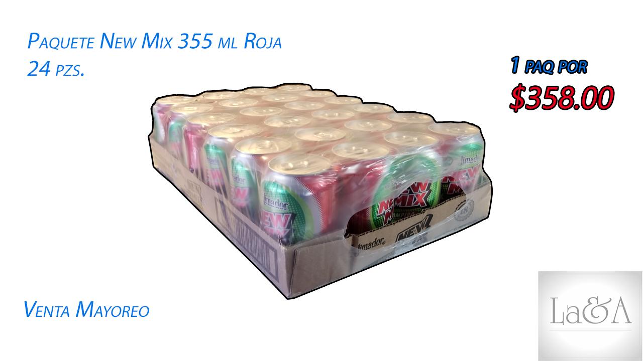 New Mix Roja 355 ml. 24 pzs.