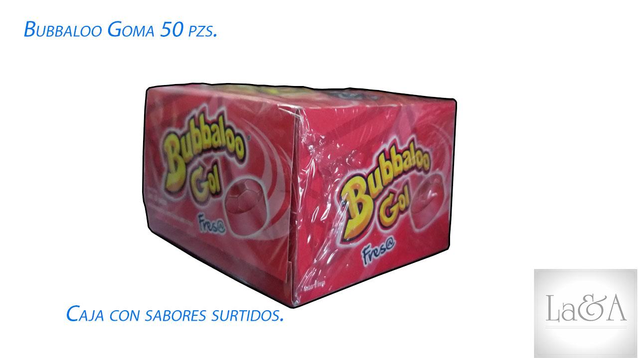 Caja Bubbaloo 50 pzs.