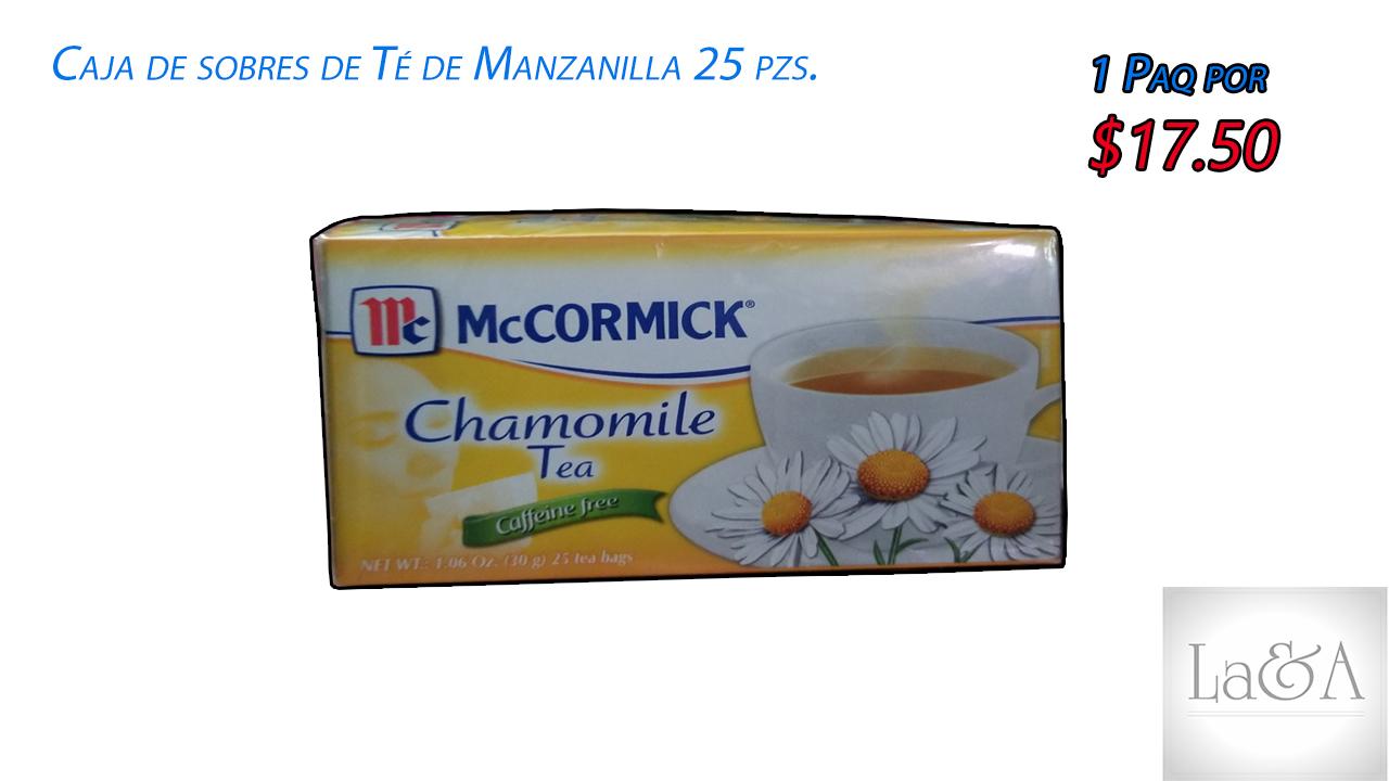 Sobres de te de Manzanilla 25 pzs.