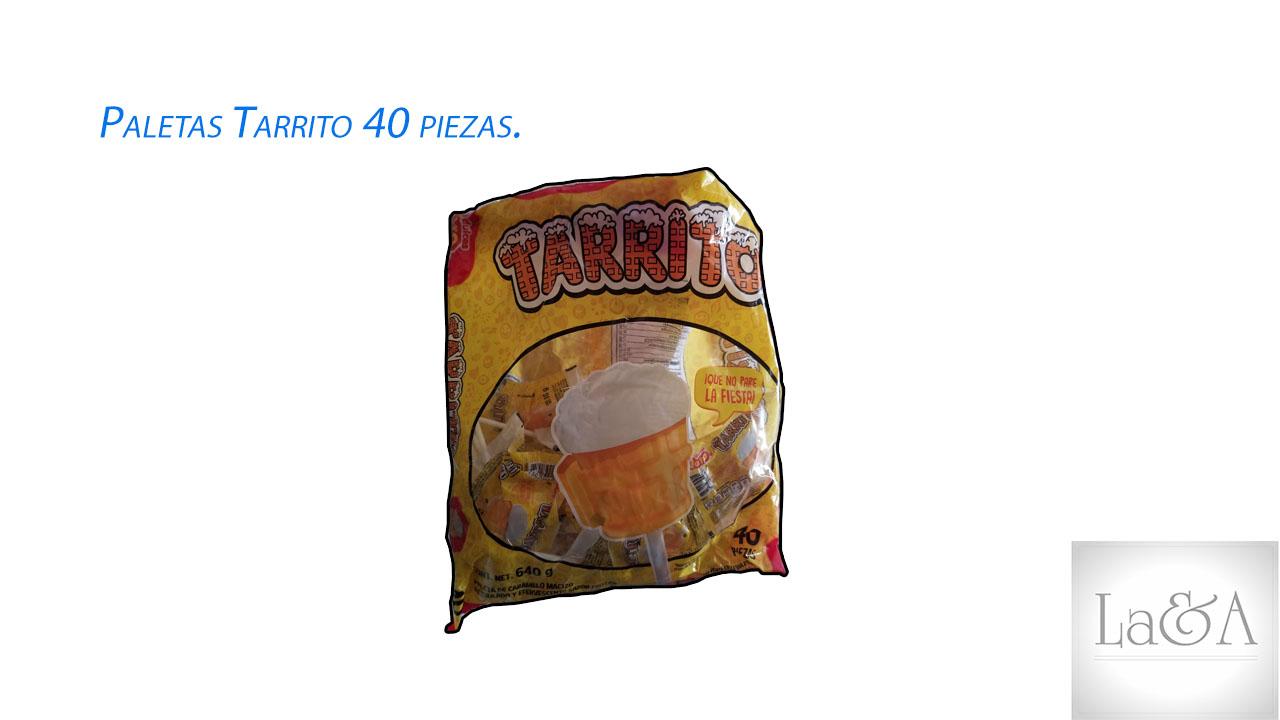 Paletas Tarrito 40 piezas.