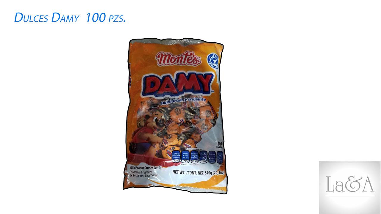Dulces Damy 100 pzs.