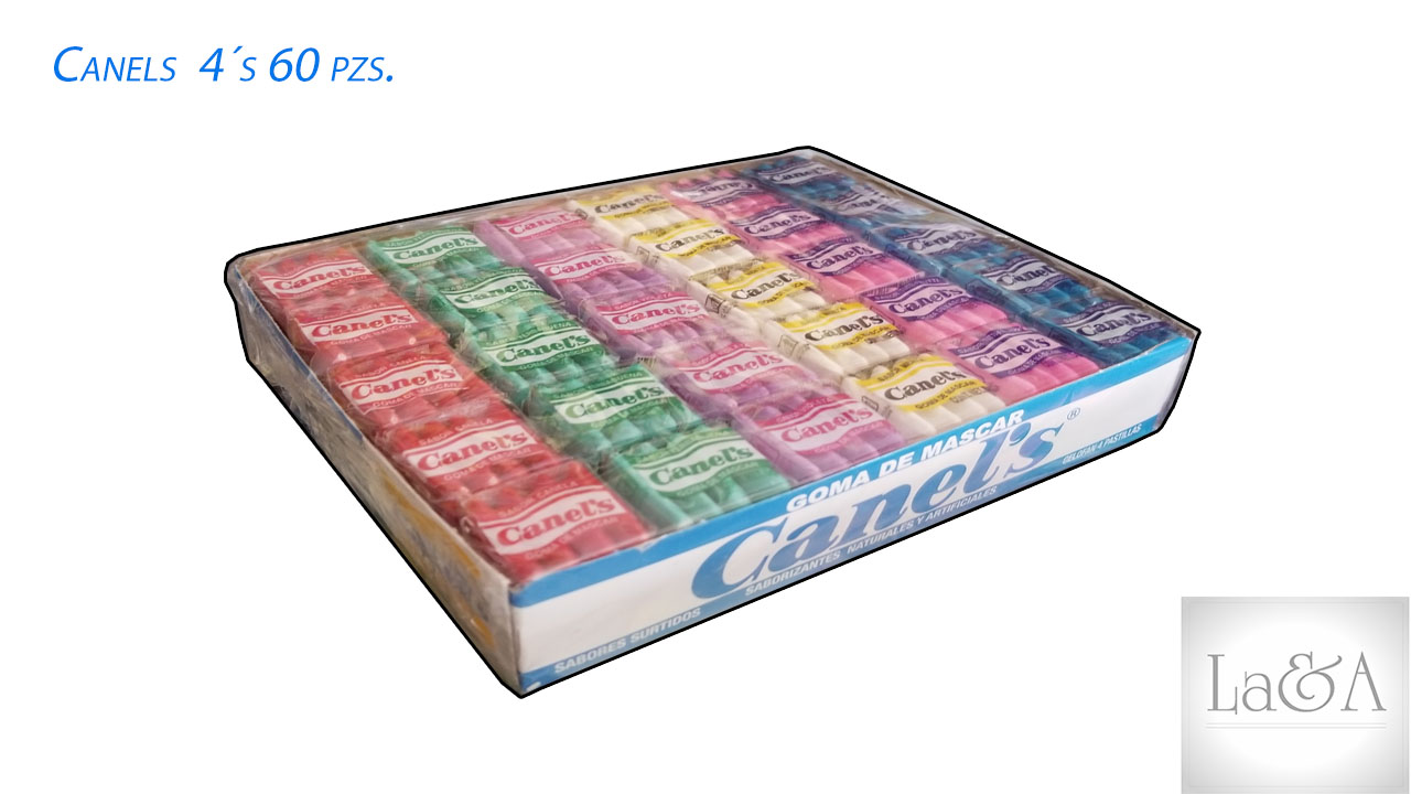 Chicle Canel´s  4´s  60 pzs.
