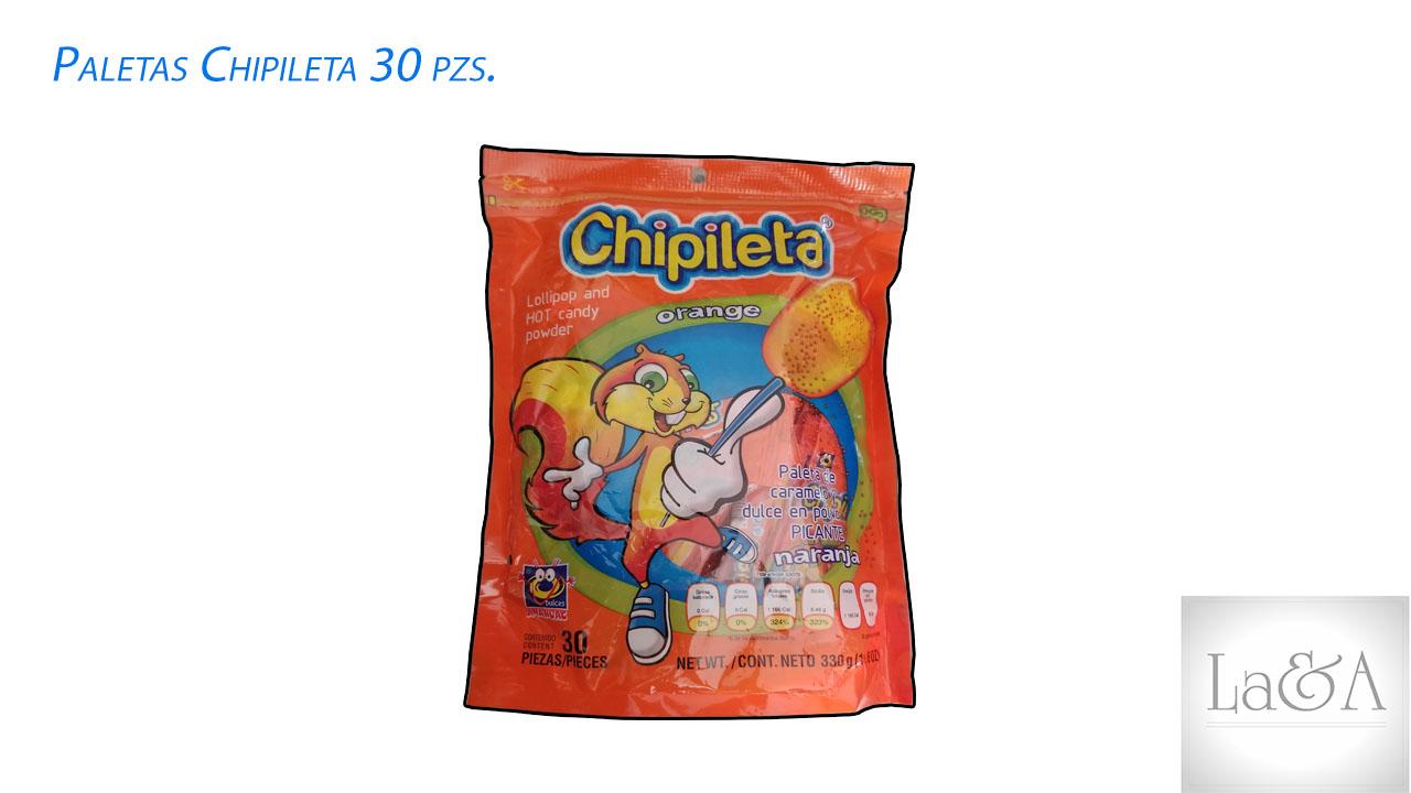 Paleta Chipileta 30 pzs.