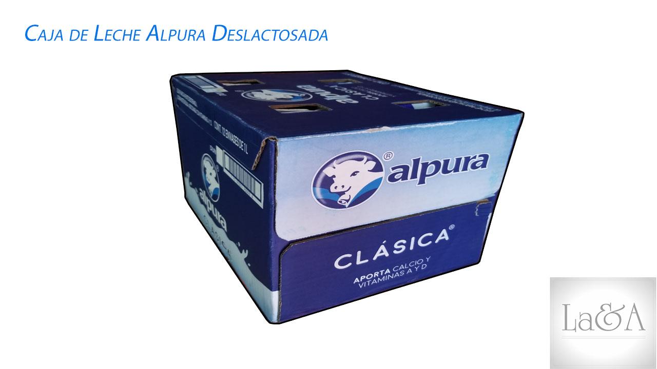 Caja de Leche Alpura Deslactosada 1 lt.