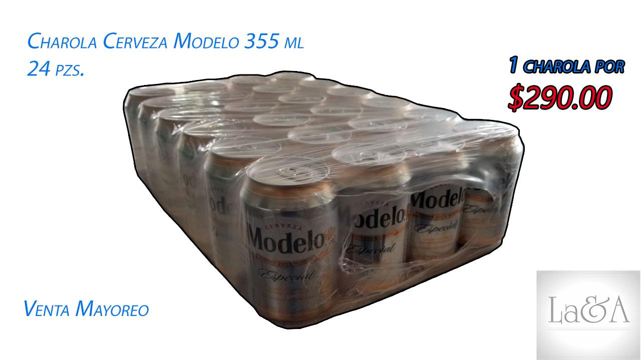 Charola Cerveza Modelo 355 ml.