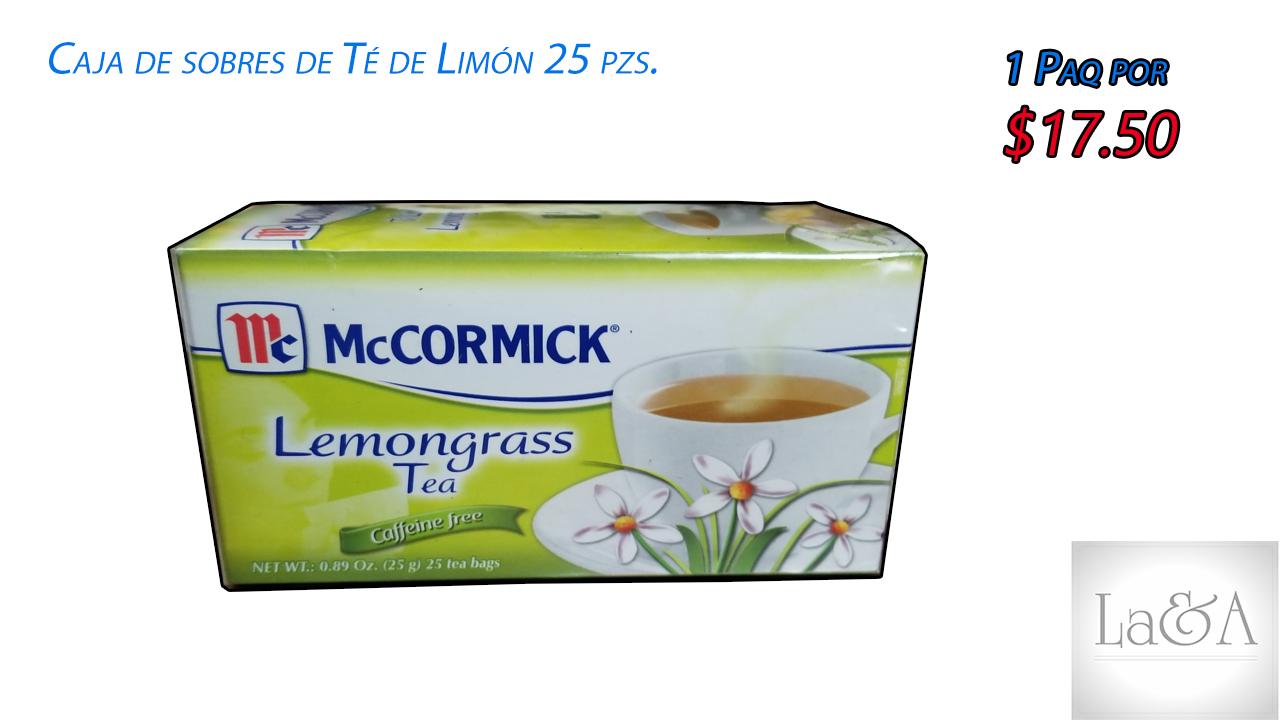 Caja de Sobres de Te de Limón 25 pzs.