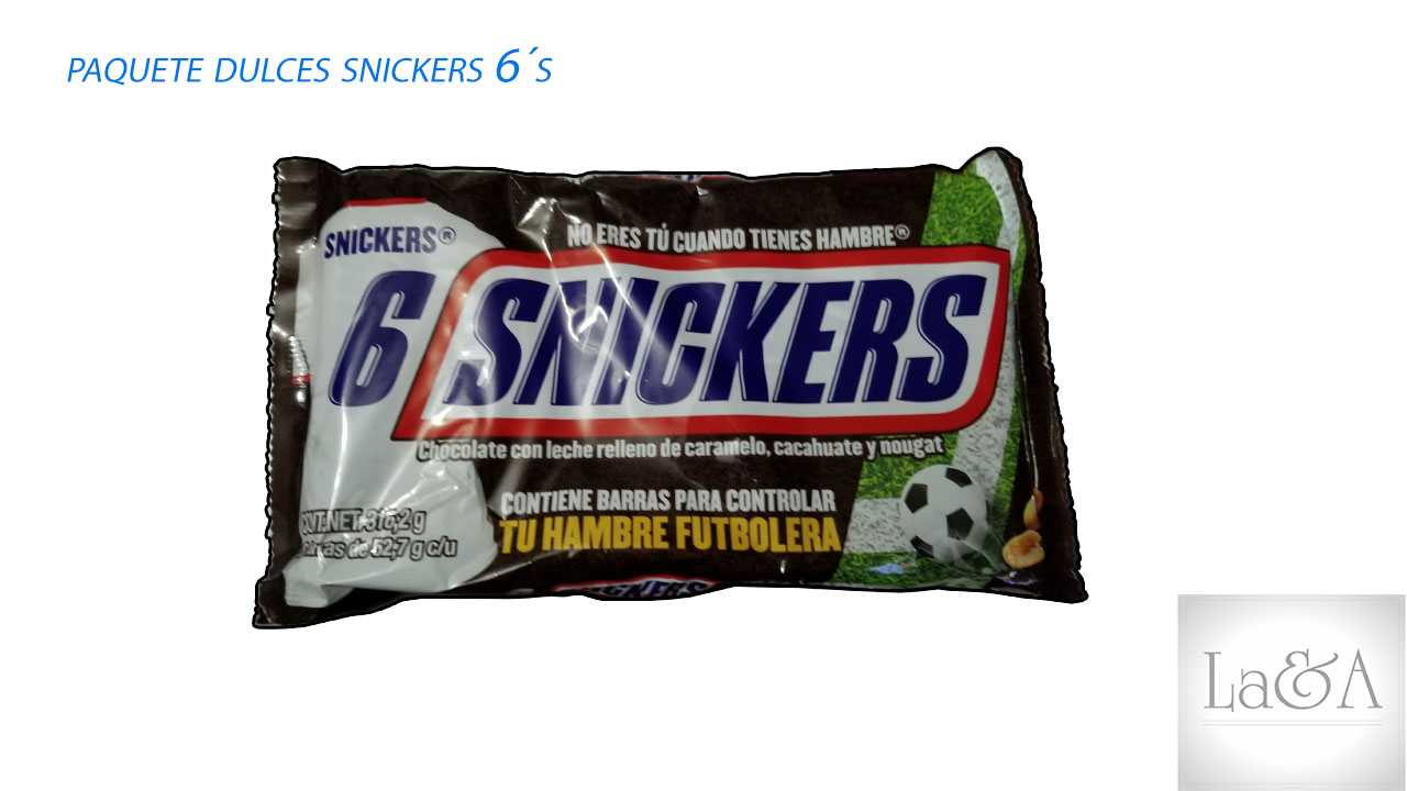 Snickers 6 pzs.