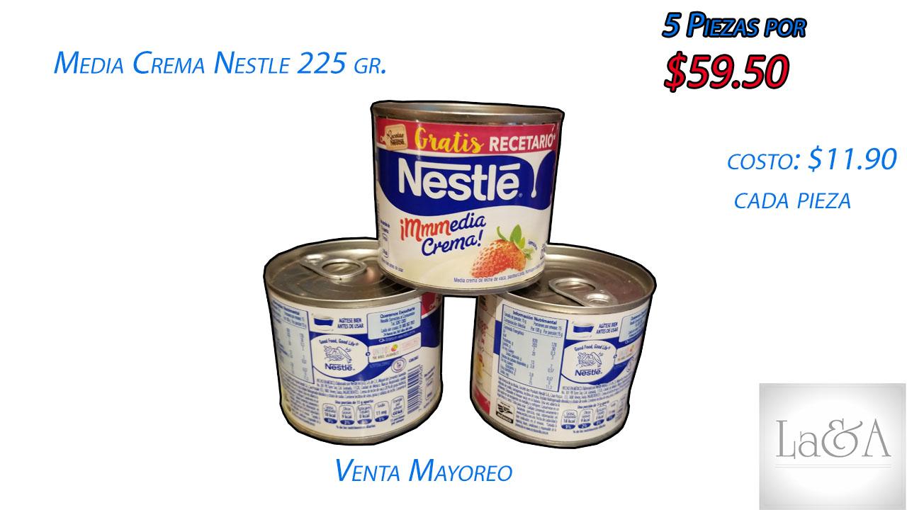 Media Crema Nestle 225 gramos.