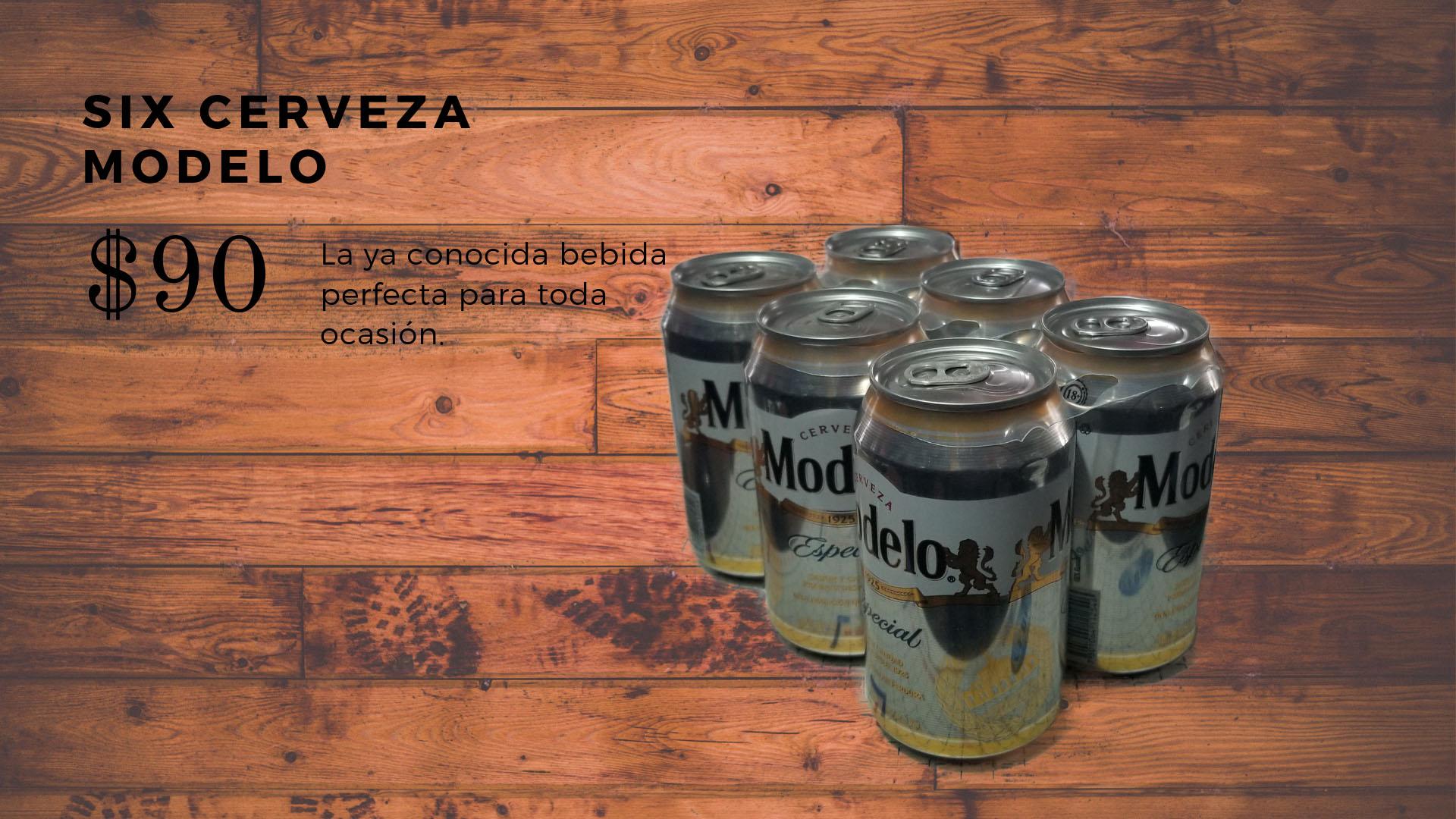 Six Cerveza Modelo 355 ml.