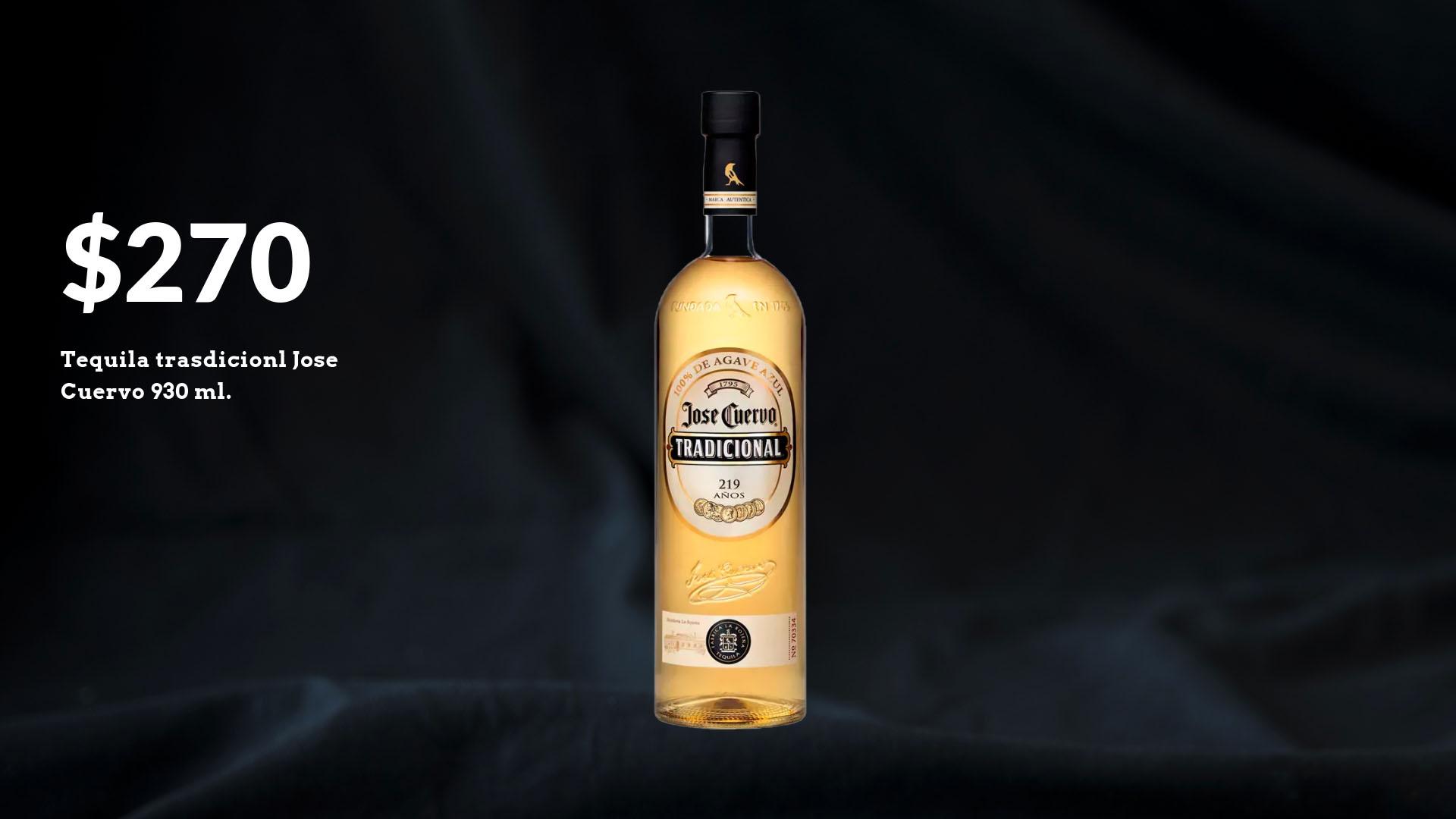 Tequila Jose Cuervo Tradicional $930 ml.
