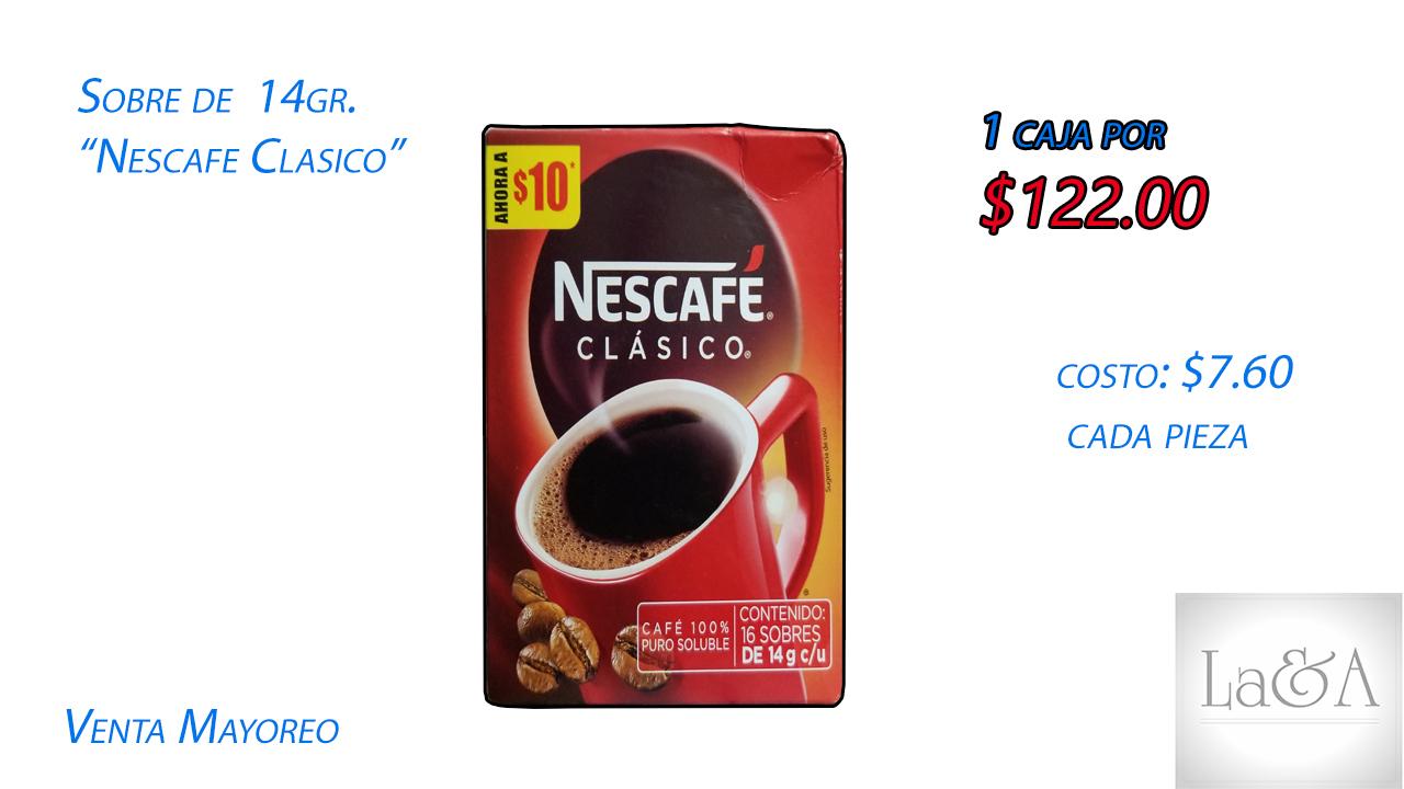 Caja Nescafé Clásico 14 gr.