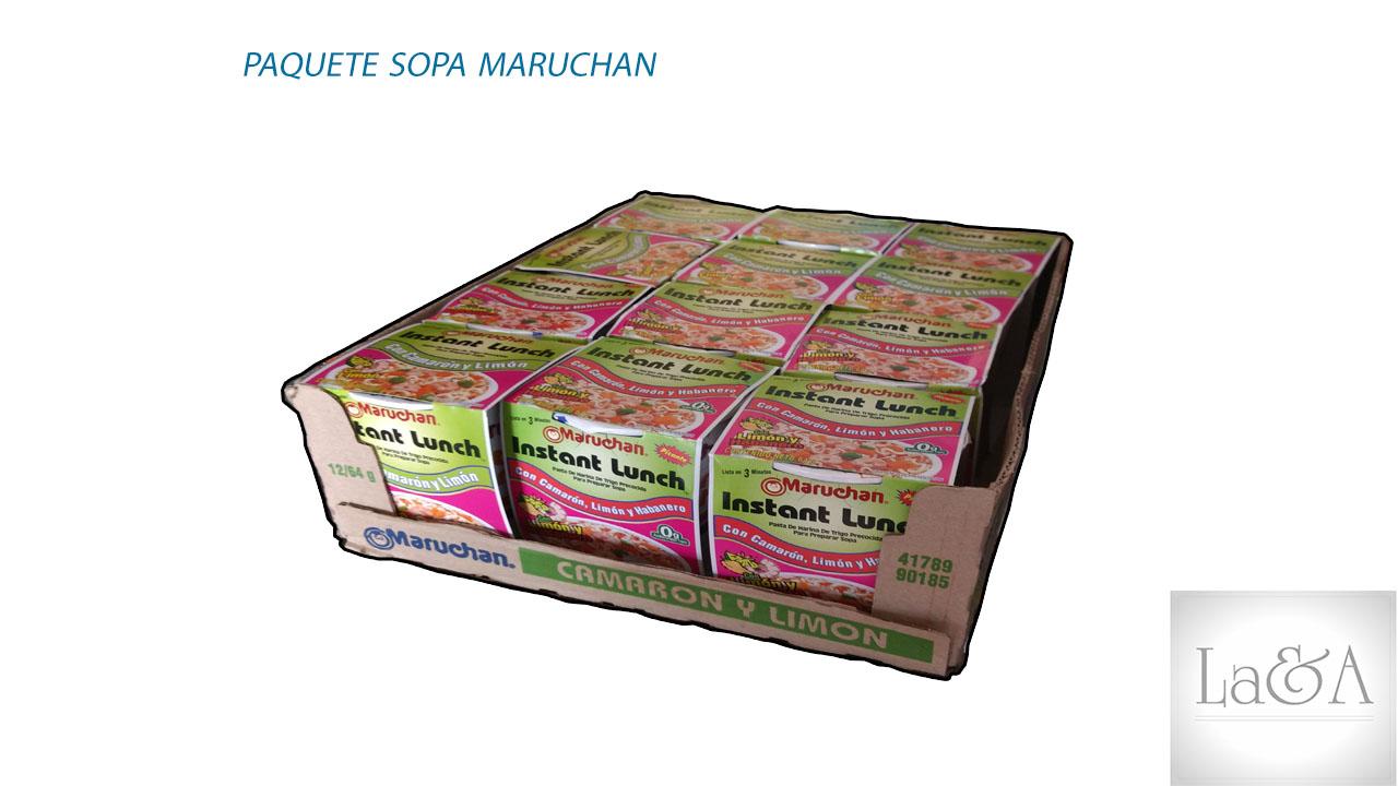 Paquete Sopa Instantanea Maruchan